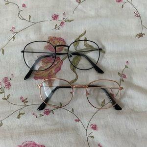 faux glasses